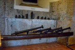 桑特'安吉洛城堡意大利博物馆  库存照片
