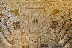 桑特'安吉洛城堡意大利-天花板背景 免版税图库摄影