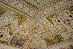 桑特'安吉洛城堡意大利-天花板背景 库存图片