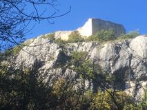 桑特Onofrio,水平,下,图象,城堡,走 免版税库存图片