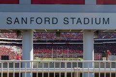 桑福德体育场标志俯视的领域 免版税库存图片