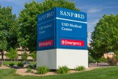 桑福德USD医疗中心 库存图片