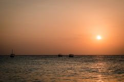 桑给巴尔暑假在海岛上的一个假日生动描述启发 免版税库存照片