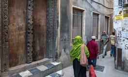 桑给巴尔石头城的中心 免版税库存图片
