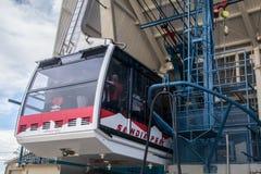 桑迪亚山顶缆车在亚伯科基新墨西哥 免版税库存图片