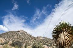 桑迪亚山顶缆车在亚伯科基新墨西哥 库存照片