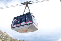 桑迪亚山顶缆车在亚伯科基新墨西哥 库存图片