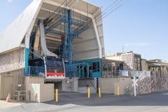 桑迪亚山顶缆车在亚伯科基新墨西哥 免版税库存照片