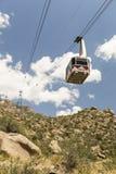桑迪亚峰顶电车轨道在亚伯科基,新墨西哥 库存图片