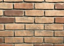 桑迪布朗砖墙摘要背景 免版税库存图片