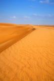 桑迪沙丘在阿布扎比附近的沙漠 库存照片