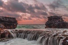 桑迪的岩石秋天 免版税库存照片