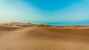 桑迪风景撒哈拉大沙漠 库存照片