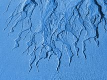 桑迪结构处于低潮中海 库存照片