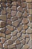 桑迪黄色石墙 免版税图库摄影