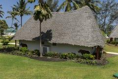 桑给巴尔岛的度假旅馆 免版税库存照片