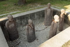 桑给巴尔石头城奴隶市场在桑给巴尔 库存照片