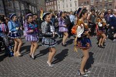 桑巴舞蹈狂欢节2016年 免版税库存图片
