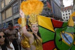 桑巴舞蹈狂欢节2016年 库存图片