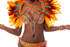 桑巴舞蹈的完善的服装 库存照片