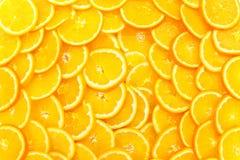 桔子切充分的框架 库存照片
