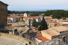 桔子和普罗旺斯的鸟瞰图 免版税库存照片