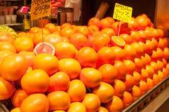 桔子和柚 免版税库存照片