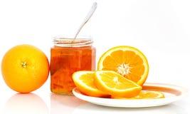 桔子和橘子果酱 免版税库存照片