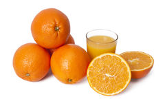桔子和橙汁 库存图片