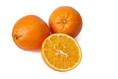 桔子和橙汁 免版税库存照片