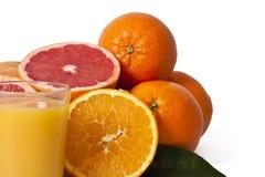 桔子和橙汁 免版税图库摄影