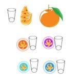 桔子和牛奶有益于健康 库存图片