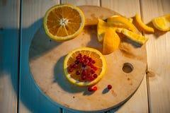 桔子用蔓越桔 免版税图库摄影