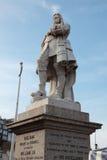 桔子的威廉雕象在Brixham,德文郡 库存图片
