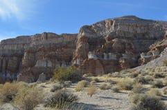 桔子被排行的红色晃动峡谷层状峭壁加利福尼亚 库存照片