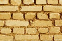 桔子被风化的砖墙纹理 库存图片