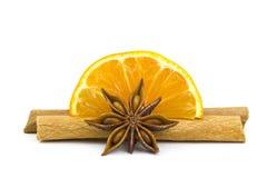 桔子,桂香,茴香 免版税图库摄影