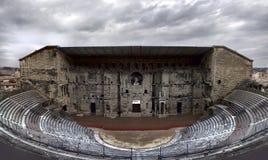 桔子,横谷,法国老罗马剧院  库存图片