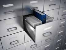 档案圆环包扎工具内阁 库存例证