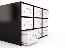 档案橱柜, 3D 免版税库存照片