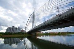 桥梁一个putrajaya钢视图 库存照片