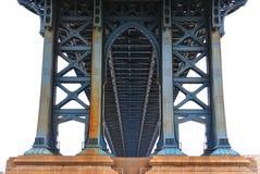 桥梁下曼哈顿 库存图片