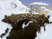 桥梁为时 免版税库存照片