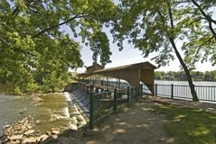桥梁乔治湖 库存图片