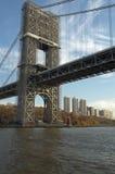 桥梁乔治nyc华盛顿 免版税库存图片