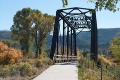 桥梁交叉铁路河线索 库存照片