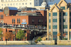 桥梁伦敦千年 库存照片
