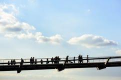桥梁伦敦千年 库存图片