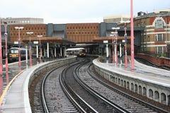 桥梁伦敦火车站 免版税图库摄影