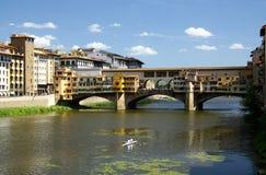 桥梁佛罗伦萨金子 免版税图库摄影